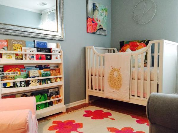 Pink and Orange Baby Girl Nursery
