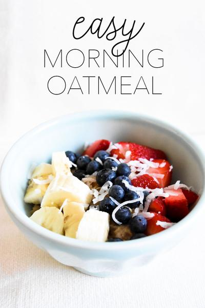 Easy Morning Oatmeal