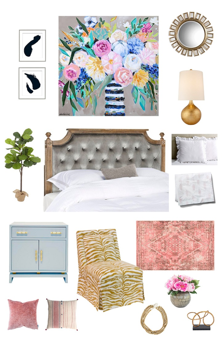 Campfires on the Beach | Eclectic Glam Bedroom