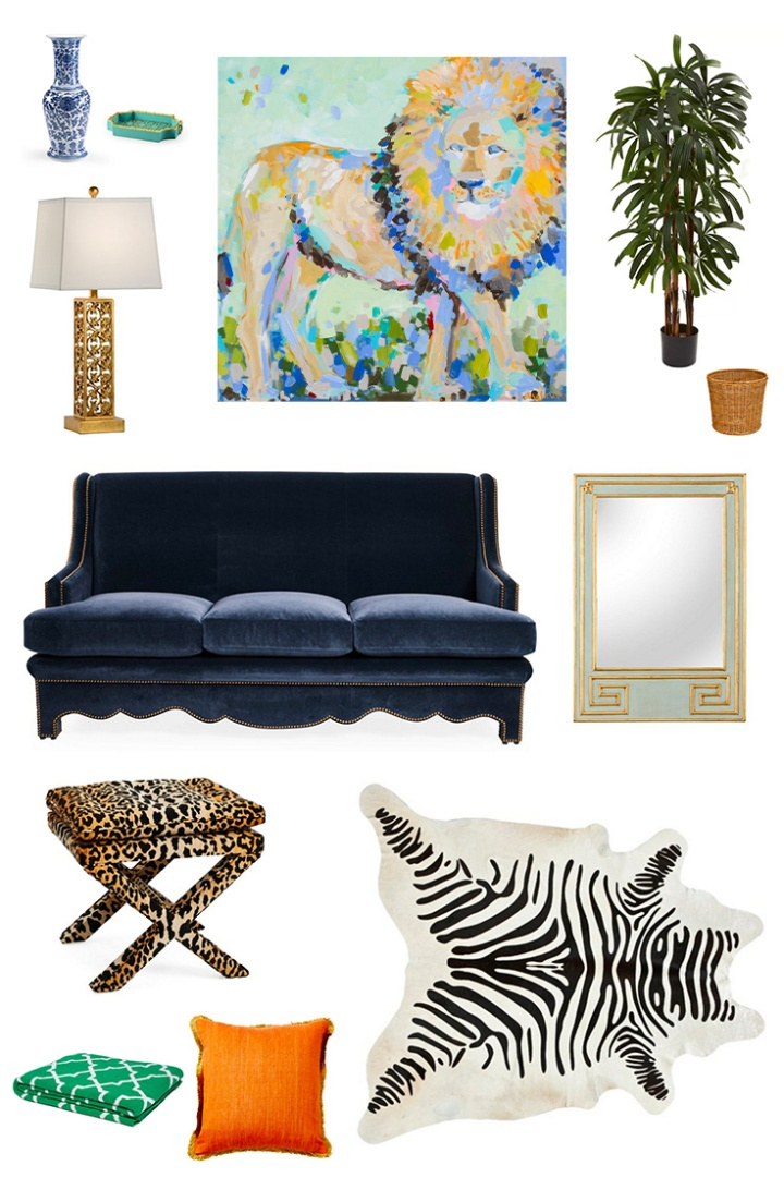 Hear Me Roar | Eclectic Glam Living Room