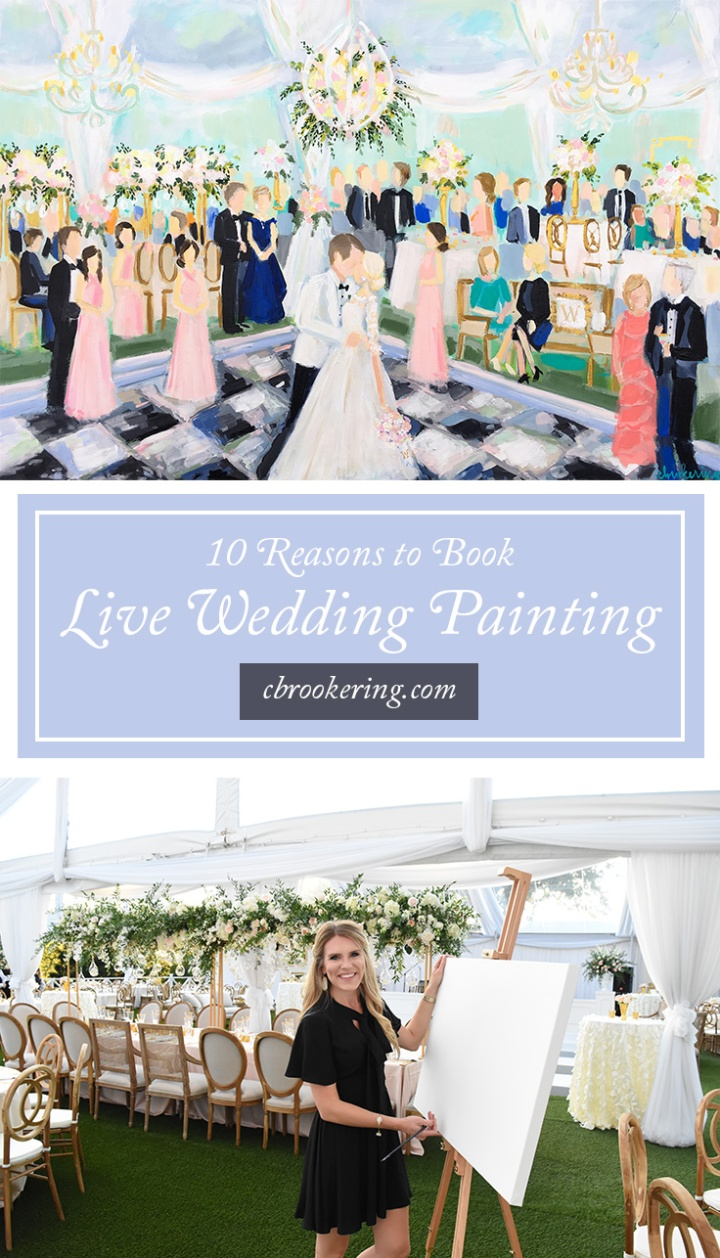 C Brooke Ring live wedding painting