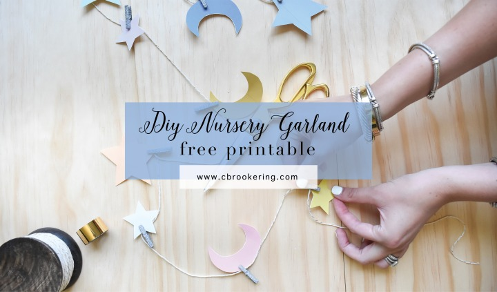 DIY Star & Moon Nursery Garland