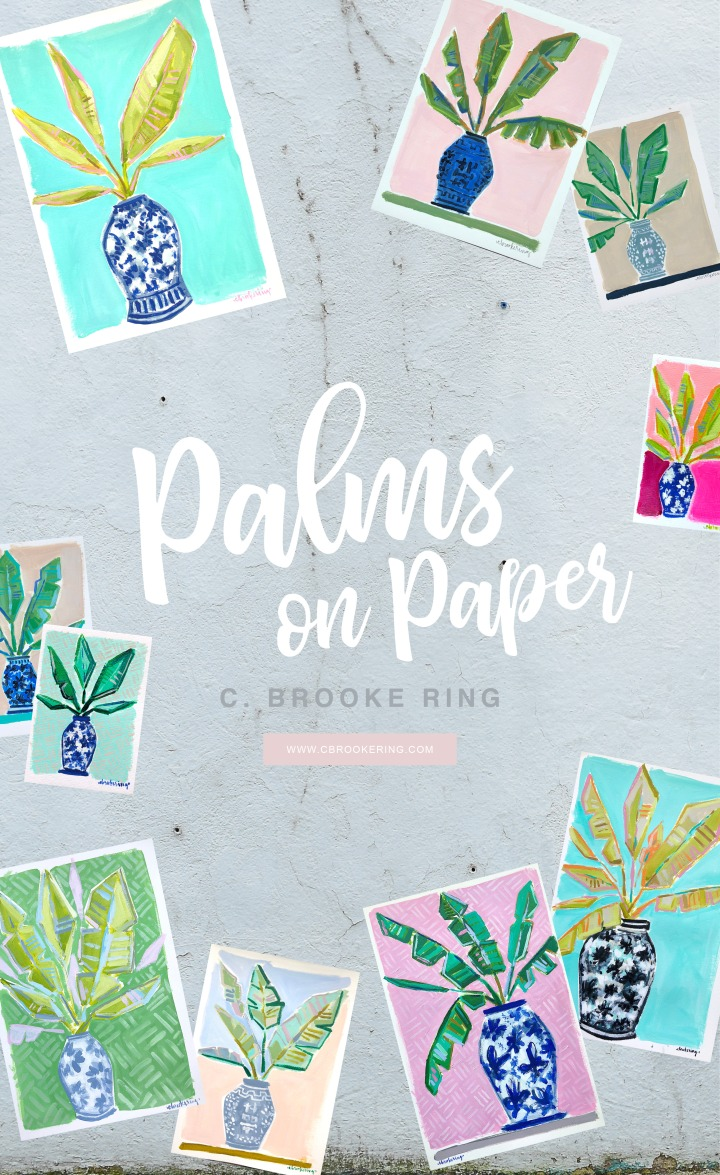Palms on Paper Graphic - C Brooke Ring