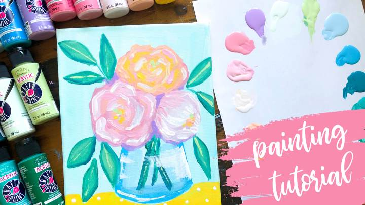 Easy Floral Painting Tutorial for Beginners