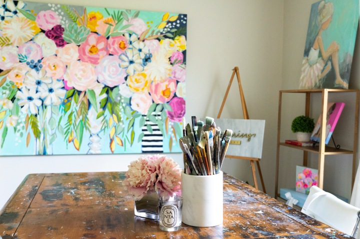 How I Organized My In-Home Art Studio!