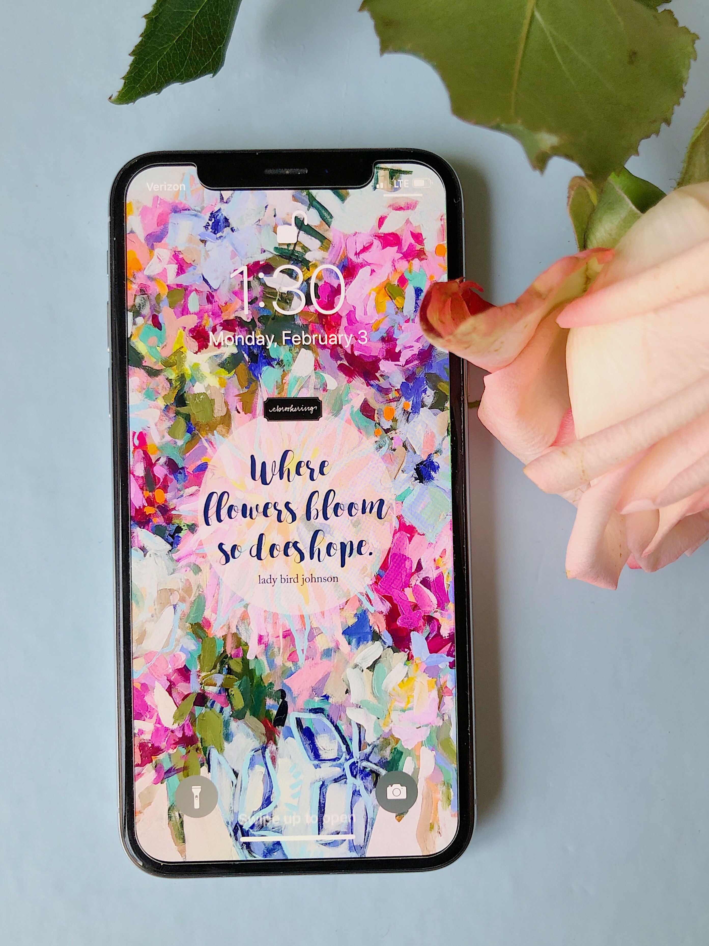 Where Flowers Bloom Lock Screen Freebie!
