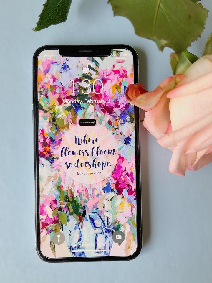 Where Flowers Bloom Lock ScreenFreebie!