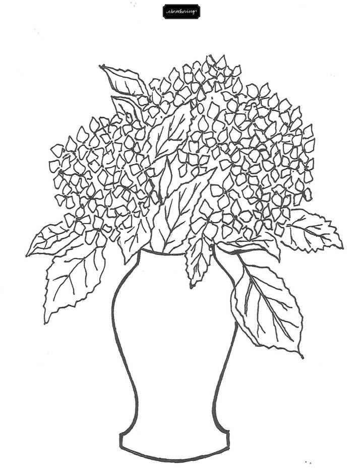 Hydrangea Coloring Sheet